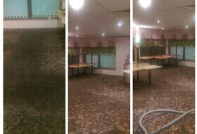 Carpet cleaning - HEAVY GREASE STAINING - 3000SQM TUNBRIDGE WELLS
